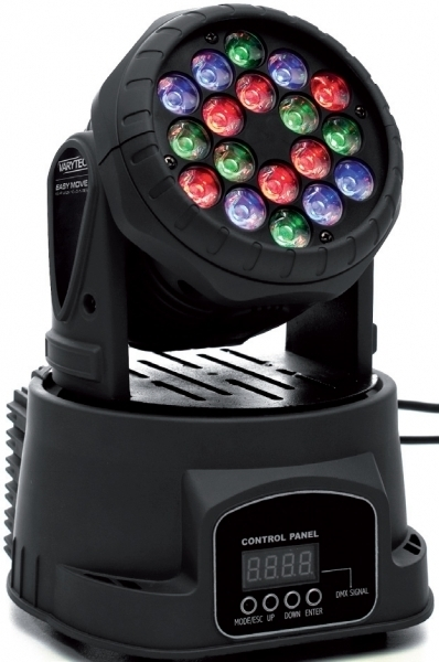 VARYTEC LED Easy Move XS HP Wash 18 x 3 W DMX