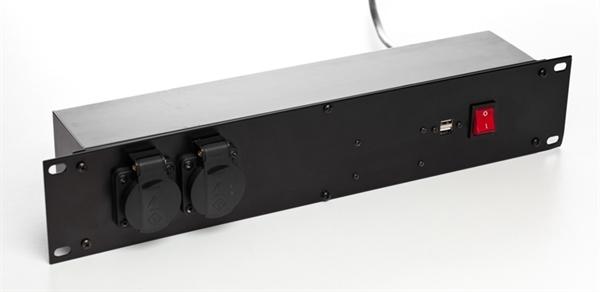 "VARYTEC 19"" Steckdosenleiste 8 x Schuko + 2 x USB"
