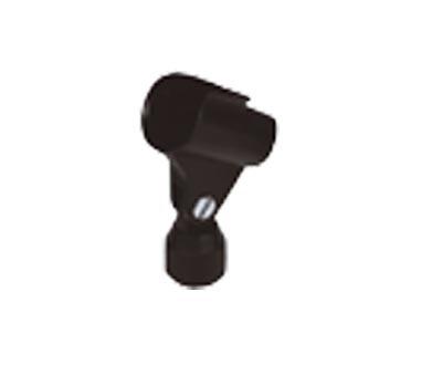 Mikrofonklemme gummierter Kunststoff schwarz