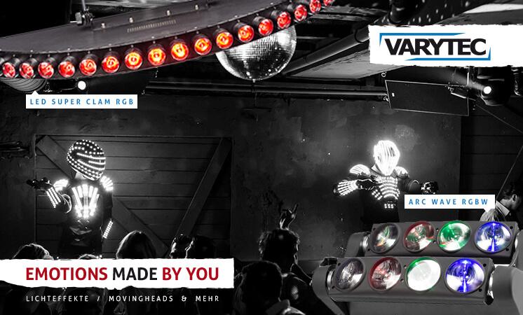 Varytec LED-Technik, Lichteffekte von Varytec, Scanner&Movingheads, günstige Lichteffekte von Varytec