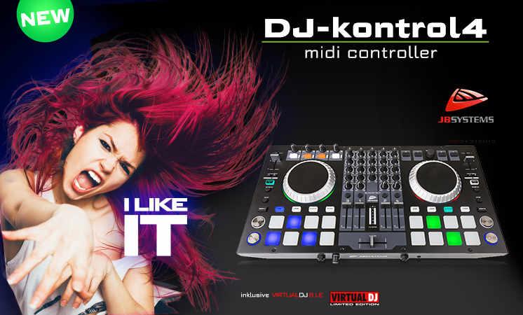 Die neue DJ Console aus dem Hause JB-Systems ist eine 4 Kanal DJ Konsole mit Equalizer