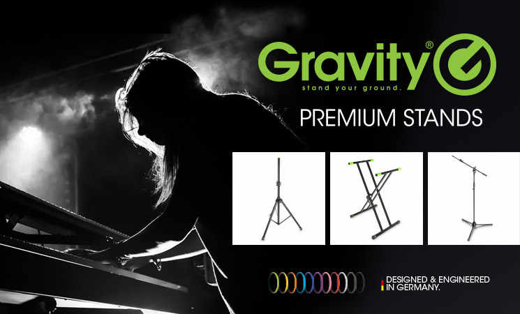 Gravity Mikrostative, Mikrofonstativ von Gravity, Keywoardständer, Notenständer