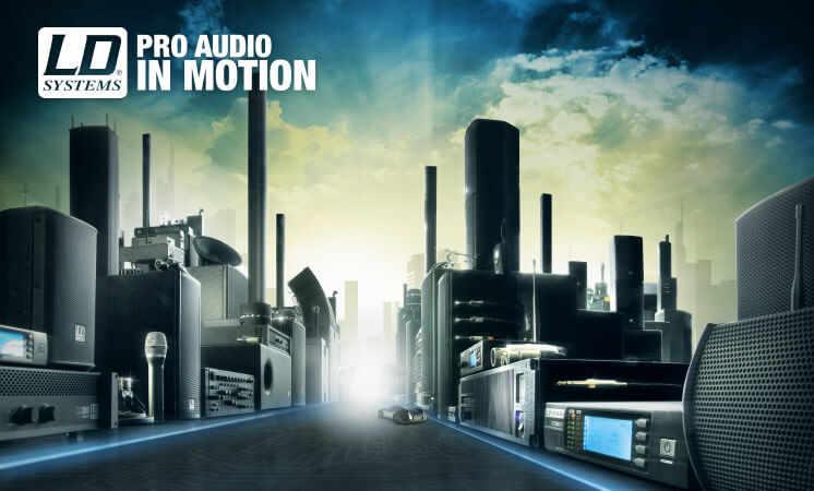 LD-Systems Produkte bei Envirel egal ob Verstärker, Mischpult aktive oder Passer Lautsprecher, Funksysteme, Funkmikrofone