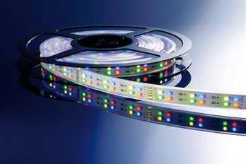 LED Stripe RGB+WW 5m 12V IP20 720 LEDs  LED Farbe RGB + Warmweiß Wellenlänge 463 ~ 625 nm Farbtemperatur 2900 - 3100K Lumen/Strip 180/900 LEDs m / Stripe 144/720 LED Typ SMD 3528 Abstrahlverhalten LED 120°   Gehäuse Material / Eigenschaft flexi