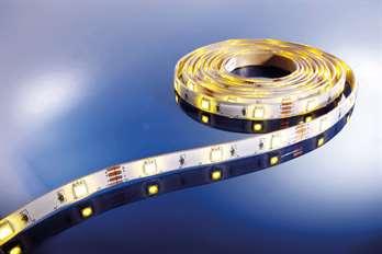 Flexibler LED-Stripe warmweiß 3m/90 LED  Mit dem flexiblen WW LED-Stripe von Kapego lassen sich moderne und stylische Lichtdesign-Konzepte hervorragend umsetzen. Von der Pool-, Fassaden-, Regal-, Fernseher- und Bodenbeleuchtung, bis hin zu besonde