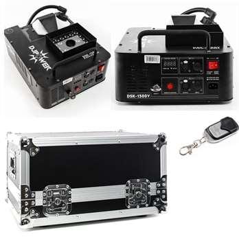 DJ POWER Nebelmaschinen DSK-1500V & Transportcase