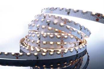 LED Stripe Sideview 3m WW 24V IP20 360LED´s  Mit dem flexiblen WW LED-Stripe von Kapego lassen sich moderne und stylische Lichtdesign-Konzepte hervorragend umsetzen. Von der Pool-, Fassaden-, Regal-, Fernseher- und Bodenbeleuchtung, bis hin zu bes