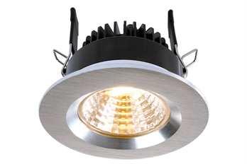 Deckeneinbauleuchte COB68 19-22V 8W gebürst  8 Watt 2700K WW exklusive LED-Netzgerät inkl. 2 Gläser   Farbe: silber Arbeitstemperatur: -5°C - °C Maße (L/B/H): 78 x 46,2 mm Material: Aluminium Farbspektrum: WW Farbtemperatur: 2700K Leistung: 8W L