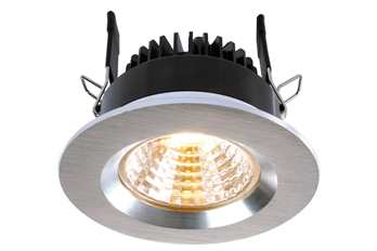 Deckeneinbauleuchte COB68 19-22V 8W gebürst  8 Watt 4200K WW exklusive LED-Netzgerät inkl. 2 Gläser   Farbe: silber Arbeitstemperatur: -5°C - °C Maße (L/B/H): 78 x 46,2 mm Material: Aluminium Farbspektrum: NW Farbtemperatur: 4200K Leistung: 8W L