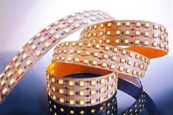 LED Stripe WW 2m 24V IP20 480 LEDs  Betriebsspannung: 24 V LED Farbe: WW (3000 K) Schutzklasse: IP20 Leistung m / ges: 55 W / 110,0 W LEDs m / Stripe: 240 / 480  Mit dem flexiblenLED-Stripe von Kapegosich moderne und stylische Lichtdesign-Konzept