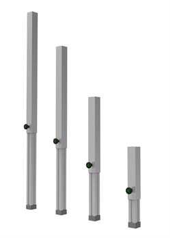 Global Truss Steckfüße 4xfür GT Stage Deck 40-60cm
