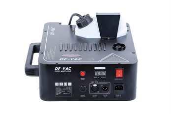 Nebelmaschine DF-V6C  Der DMX 512 von DJ Power ist eine Nebelmaschine mit Hazer, Fazer und einen Bodennebler. Sie wird speziell bei Großevents, TV Shows und Theater verwendet da sie qualitativ sehr hochwertig und über eine ausgezeichnete Technik