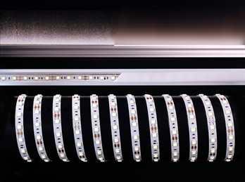 LED LED Stripe NW 5m 12V IP44 300 LEDs  Der LED Stripe NW von Kapego ist mit 5m Stripe der mit 300 LEDs bestückt ist. Er sorgt für eine Harmonische Beleuchtung und eignet sich für stylische Lichtdesign-Konzepte. Es ist egal Fassaden-, Regal-, Ferns