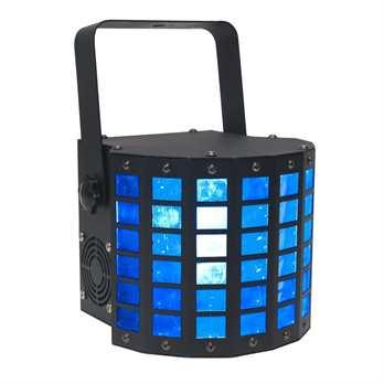 Mini Dekker 2x10W RGBW  Der ADJ Mini Dekker DMX-512 LED Effekt mit RGBW (rot, grün, blau & weiß) farbigen Balken aus 48 Linsen, ausgestattet mit 2 hellen 10 Watt RGBW Quad LED. Das Gerät ist relativ klein und leicht und somit im Partyraum oder auf ei