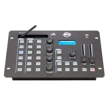 """WiFly NE1 Battery  Der WiFly NE1 Battery von American DJ ist ein DMX-Controller, er bietet eine vielseitige Lösung zur DMX Steuerung, aufgrund seines Effektgenerators für PAR-LEDs und Moving Heads,eines Wireless-DMX-Senders """"Wifly EXR"""" mit erwei"""