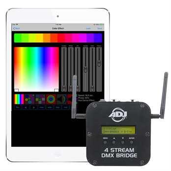 ADJ 4 Stream DMX Bridge drahtloses 4-Universum