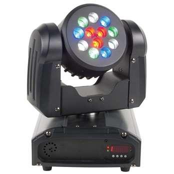 American DJ Inno Color Beam 12  Der Inno Color Beam 12 ist ein kompakter und leistungsfähiger LED-Moving-Head mit 36 Watt und bietet Lichtdesignern für ihre Showgestaltung einen außergewöhnlich intensiven Strahleneffekt. Mit seinen 12 Qualitäts-LED von C