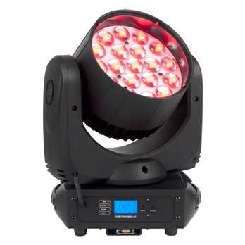 Inno Color Beam Z19  Der Inno Color Beam Z19 von ADJ ist ein professioneller LED-Moving-Head mit 190 W und einem motorisierten Zoom, mit dem ein variabler Abstrahlwinkel von 10 bis 60 Grad ermöglicht wird. Das Gerät wird von 19 vierfarbigen Osram-LED