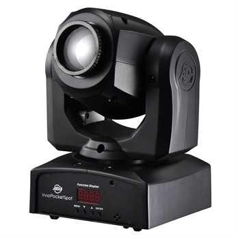 Inno Pocket Spot  Der Movinghead von American DJ ist mit einem 12 Watt starken LED Leuchtmittel ausgesattet, er ist sowohl für den Gebrauch im Partykeller als auch im Club, BAR oder der Discothek geeignet. Dank der mitgelieferten Fernbedienung kann d