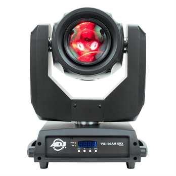 Vizi Beam 5RX  Der Moving Head Vizi Beam 5RX von ADJ glänzt mit einer eingebauten revolutionären Philips® Platinum 5R Entladungslampe (8000 ˚K, 3.000 Betriebsstunden). Die leistungsstarke Platinum 5R kann mit einer Lichtausbeute aufwarten, die d