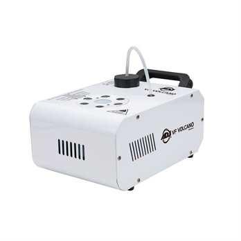 VF Volcano vertikale Nebelmaschine Die Nebelmaschine VF Volcano ist eine weiße Nebelmaschine welche über einen vertikalen Ausstoß sorgt. Die Maschine kann mit der beiliegenden Funkfernbedienung bedient werden. Zusätzlich zum Nebel kann an der Maschine