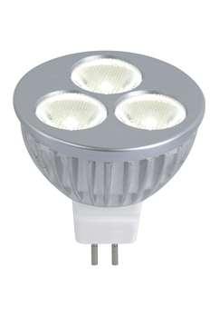 LM LED GU5,3 MR16 12V 3W 38° W silber  GU5,3 Neutralweiß / 4000K 38° Abstrahlwinkel