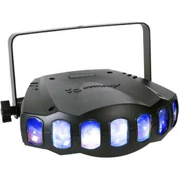 """American DJ Revo Sweep  Features & Technische Daten: - 84x 5mm LEDs: 21 Rot, 21 Grün, 21 Blau, 21 Weiß - 2 DMX Modi: 3 Kanal Modus; 28 Kanalmodus für die totale Flexibilität - 3 Betriebsmodi: DMX-512, Master/Slave, Sound to Light - eingebaute """"high-"""