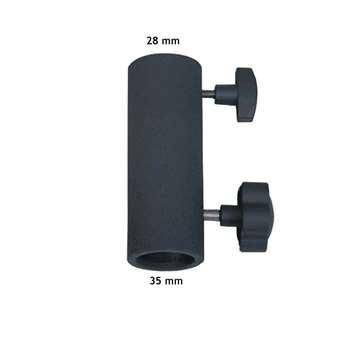 American DJ ST-132 TV Adapter  TV Zapfen (Spigot) Adapter für ST-132 Stativ und ST-157. Aufnahme durch ST-132 35mm und eines 28mm Spigot. Stabile Stahlkonstruktion mit 2 Befestigungsschrauben.