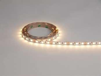 LED Stripe WW 3m 12V IP55 90 LEDs  LED Farbe Warmweiß Wellenlänge - Farbtemperatur 2800-3200K Lumen m / Stripe 360/1080 LEDs m / Stripe 30/90 LED Typ SMD 5050 Abstrahlverhalten LED 120°  Gehäuse Material / Eigenschaft silikoniert / flexibel Farb