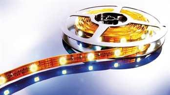 LED Stripe WW 5m 24V IP20 150 LEDs  Mit dem flexiblen WW LED-Stripe von Kapego lassen sich moderne und stylische Lichtdesign-Konzepte hervorragend umsetzen. Von der Pool-, Fassaden-, Regal-, Fernseher- und Bodenbeleuchtung, bis hin zu besonderen a