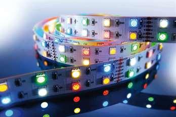 LED Stripe RGB+A+WW+CW 3m 12V IP20  Mit dem flexiblen RGB+WW+CW+A+LED -Stripe von Kapego lassen sich moderne und stylische Lichtdesign-Konzepte hervorragend umsetzen. Von der Pool-, Fassaden-, Regal-, Fernseher- und Bodenbeleuchtung, bis hin zu be