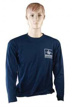 Long Sleeve Farbe navy in Größe L  Mit diesem schlichten Longsleeve von GLP in dunkelblauer Farbe sind Sie bestens für den Job ausgerüstet! Perfekt geeignet für kühlere Herbsttage oder morgendliche Frische im Frühjahr. Dieses Longsleeve ist in versch