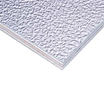 Adam Hall Stucco Alu auf Birkensperrholz 9,4mm  Diese Birkensperrholzplatte aus dem Hause Adam Hall ist Birkensperrholzplatte welche mit Aluminum Stucco Blech beschichtet worden ist, das ganze mit hochbelastbarem D4 Klebstoff nach der DIN EN204 Norm. Die