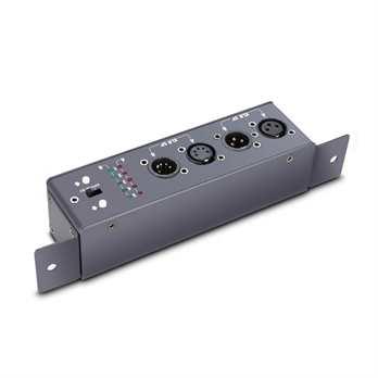 MCT DMX Kabeltester  Der neue Kabeltester von Palmer Pro kann sowohl 3 als auch 5 Polige DMX Kabel auf Durchgang prüfen, dabei zeigen 2 LED Reihen den Status der Pole an. Das Testgerät wird mit 2x AA Batterien betrieben, und ist somit überall