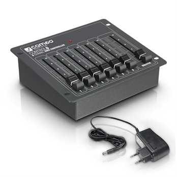 CONTROL 6 - 6-Kanal DMX-Controller  Der Cameo CLCONTROL6 ist ein besonders kompakter DMX-Controller mit 6 Kanälen, der sich perfekt zur Steuerung kleiner Lichtanlagen eignet. Er läßt sich vielfältig montieren und kann selbstverständlich auch freist