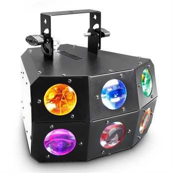 Eye-Eye, Derby Matrix Effekt  Der neue Cameo Eye-Eye LED Lichteffekt hat 24 Quad LEDs diese sind im DMX Modus über 2,3,4, oder 8 DMX Kanäle mit einem Steuergerät ansteuerbar. Ebenso kann das Gerät auch im Master-Slave Modus sowie im Stand Alone Mod