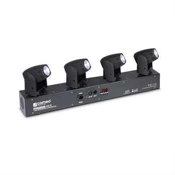 HYDRABEAM 400 W - Lichtanlage mit 4 Moving Heads  Lichtanlage mit 4 ultraschnellen 10 W Lumi-Engin-LED Moving Heads  Der Cameo HydraBeam 400 White ist eine Lichtanlage mit 4 ultraschnellen Moving Heads, die unabhängig voneinander gesteuert werden