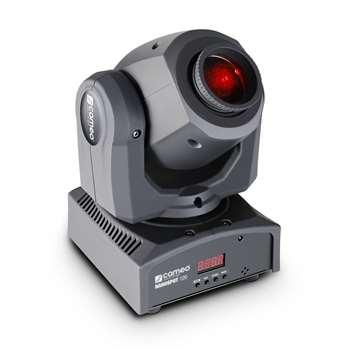 NanoSpot 120 - LED Mini Moving Head 12 W  Cameo hat mit den NanoSpot 120 einen Mini-Moving-Head mit 540° Pan und 230° Tilt und einer lichtstarken 12W Cree-LED in das Programm aufgenommen. Neben dem Farbrad mit rot, orange, gelb, grün, blau, cyan un