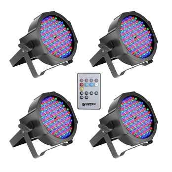 Cameo CLPFLAT1RGB10IRSET1 PAR Scheinwerfer mit IR