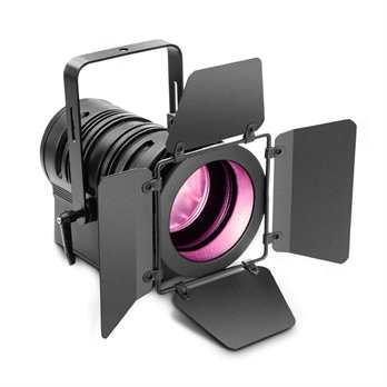 TS60 TheaterSpot 60 Watt RGBW LED  Der TS60 RGBW (rot, grün, blau weiß) aus dem Hause Cameo ist ein Theater Scheinwerfer welcher eine Plankonvexlinse hat und somit einen manuellem Zoom womit man den Abstrahlwinkel von 9 bis 41 Grad einstellen kann.