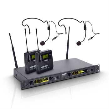 WIN 42 Serie Funkset 2xBeltp.+2xHeadset  Set besteht aus:  1 x LDWIN42R2 2 x LDWIN42BP 2 x LDWS100MH1  Auf Grund der ab 2015 veränderten Situation im Bereich der Allgemeinzuteilungen für den Betrieb von Funksystemen hat LD Systems s