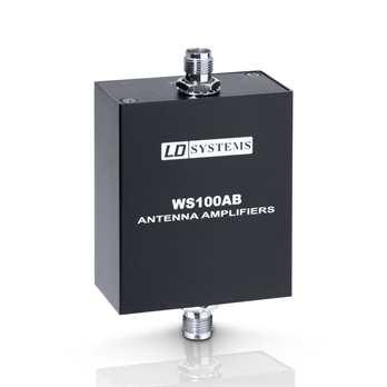 WS 100 Serie - Antennen Verstärker  Diese Produkt ist mit der LDWS1000G2 und LDWIN42 Serie kompatibel.  Typ: aktiv Frequenzband: 500 MHz - 900 MHz Frequenzbandbreite: 400 MHz Signalverstärkung: 13 dB Antennenanschluss Eingang:
