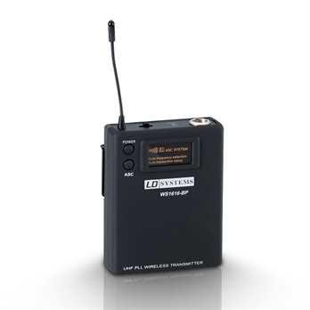 Sweet SixTeen - Belt Pack Sender  Beltpack für Gitarre, Lavaliere Mikrofon und Headset mit 3-pol Mini XLR Verbinder Einfachstes Handling und Einstellen der 16 Kanäle durch ASC Infrared Frequency Scanning Getrennt regelbarer hochohmiger Gitarre