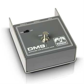 DMX, Umschalter für Dynamische Mikrofone Der MI DMS von Palmer ist ein Umschalter für dynamische Mikrofone. Er kann ein Mikrofon zwischen zwei Eingängen schalten. Der DMS ist passiv und ausschließlich für dynamische Mikrofone anwendbar. Die Scha