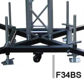 Baseplatte für Tower mit Rollen, Stahl