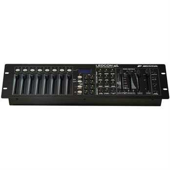 LEDCON-XL DMX Controller  Der JB Systems LEDCON-XL DMX Controller ist ein universell einsetzbares Lichtpult. Das ansteuern von Lichteffekten, Movingheads und Nebelmaschine ist kinderleicht.  Eigenschaften von JB Systems LEDCON-XL DMX Controll
