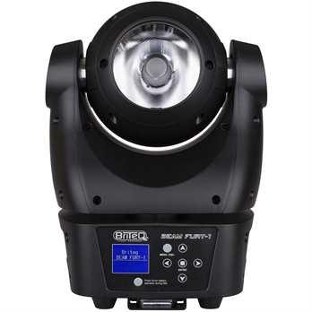 BEAM FURY-1 Beam-Moving Head  Der Beam Fury-1 ist ein Beam-Moving Head aus dem Hause Briteq. Das Gerät ist eins der einzigen Geräte mit Pan und Tilt Endlosrotation ! Der Moving Head hat eine 4 Grad Abstrahlwinkellinse und hat dadurch mit der 60 Wa