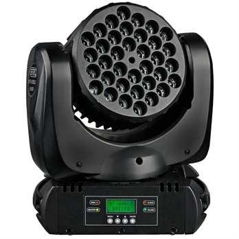 BT-W36 L3 Moving Wash  Der BT-W36 aus dem Hause Briteq ist ein leistungsstarker LED Moving Head in der Wash Ausführung. Das Gerät verfügt über 36 LEDs (12xrot, 12x grün, 12xblau), welche je eine Leistung von 3 Watt aufweisen. Somit ein guter Effek