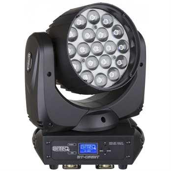 BT-ORBIT, 19x15 Watt LEDs  Der BT-ORBIT von BriteQ ist ein LED Zoom-Wash Moving Head, der mit 19x15 Watt LEDs und einem ca. 65% höheren Lichtoutput ausgestattet ist. Er bietet Ihnen mit seinen 3 einzeln helle Lichtstrahl steuerbare Ringe und eine