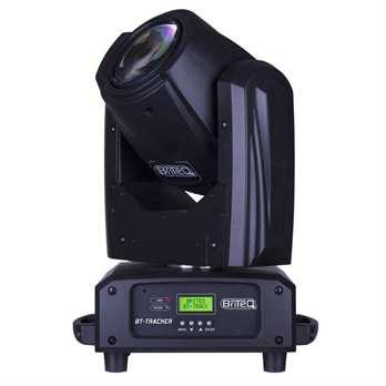 BT-TRACKER Moving Head  Der BT Tracker von Briteq ist ein kompakter Moving Head (Beam) welcher mit der starken OSRAM® Sirius HRI-100 Lampe eine Helligkeit von 310.000 Lux aufweißt bei 5 Meter Distanz und 3 Grad Abstrahlwinkel, bei 10 Meter Entfern